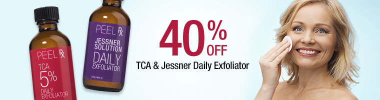 40% off TCA and Jessner daily exoliators