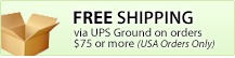 FREE Shipping via UPS Ground on orders $75 or more (USA)